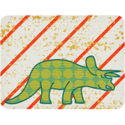 Dino Journal Card- Triceratops