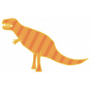 Dinosaurs Sticker- T Rex- Orange & Striped