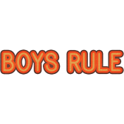 Boys Rule- Dino Word Art