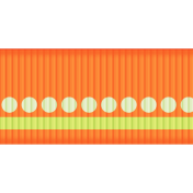 Fat Ribbon- Stripes- Orange
