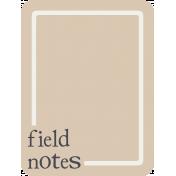 Berlin Field Notes Journal Card