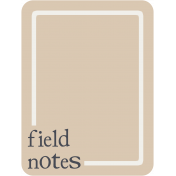 Berlin Field Notes Journal Card