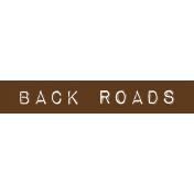 Cambodia Back Roads Label