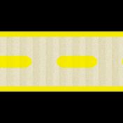 Thin Ribbon 02- Dashed- Yellow