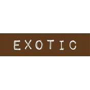 Cambodia Exotic Label