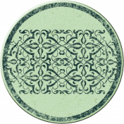 Cambodia Chipboard Circle- Blue