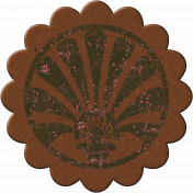 Cambodia Chipboard Flower- Brown