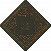 Cambodia Chipboard Square- Brown & Grey
