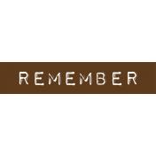 Cambodia Remember Label