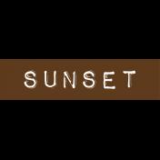 Cambodia Sunset Label