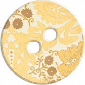 Cambodia Button- Cream & Yellow & Brown Floral