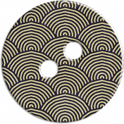 Cambodia Button- Fan Pattern