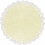 Text and Houndstooth Mat