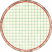 Cambodia Grid Tag- Circle Large Grunge
