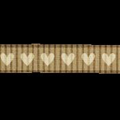 Hearts Ribbon- Tan