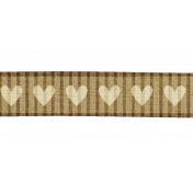 Hearts Ribbon - Tan