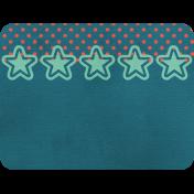 Cheer Journal Card- Blue Green & Red Polka Dot