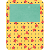 Cheer Journal Card- Yellow, Red & Green
