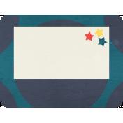 Cheer Journal Card- Navy Blue & White