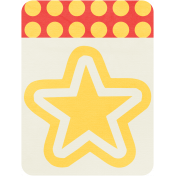 Cheer Journal Card- Yellow White & Red