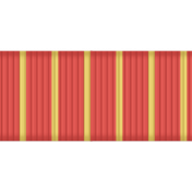 Cheer Ribbon- Med Stripe Red & Yellow