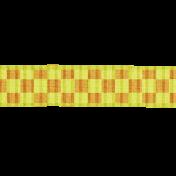 Yellow Orange Gingham Ribbon