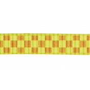 Yellow Orange Gingham Ribbon
