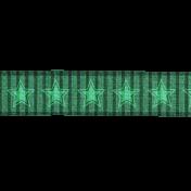 Teal Stars Ribbon