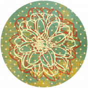 Discover Circle- Floral Green