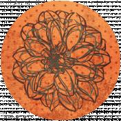 Discover Circle- Floral Orange