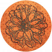 Discover Circle- Floral Orange