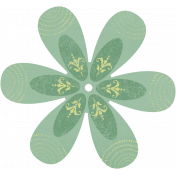Discover Flower- Soft Petal Green