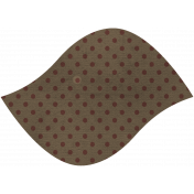 Discover Leaf Large- Brown & Polka Dot