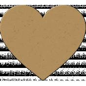 Malaysia Chipboard Heart- Brown