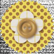 Malaysia Flower- Yellow & Brown