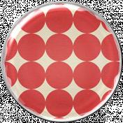 Malaysia Plastic Brad- Red Polka Dots