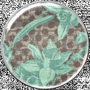 Malaysia Plastic Brad- Teal Florals