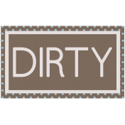 DSF Aug 2013 Blog Train Mini Kit- Dirty Wordart