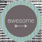 DSF Aug 2013 Blog Train Mini Kit- Awesome Wordart