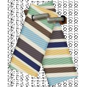 DSF Aug 2013 Blog Train Mini Kit- Folded Ribbon with Staple