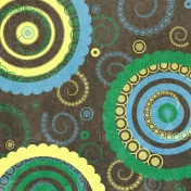 Circles Paper- Brown, Blue & Green