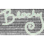 Blog Train Beachy Word Art
