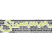 Blog Train Summer Word Art