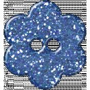 DSF Aug 2012 Flower Button- Blue