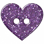 DSF Aug 2012 Button- Heart Purple