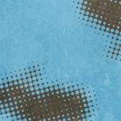 Halftone Paper- Brown & Blue