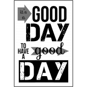 Inspire Word Art- Good Day