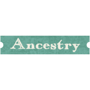 Family Tag- Ancestry