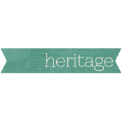 Family Tag- Heritage