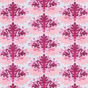 Damask 13 Paper- Blue & Pink